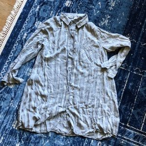 Grey button down old navy dress